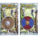 Bristol Novelty BA404 Viking Sword/Shield and Axe Set, One Size