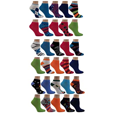 30-PAIR!!!! Set Of Women's Neon No-Show Socks–Solid & Patterned–Size 9-11–Fun & Comfortable–Ideal Gift For Girls & Women
