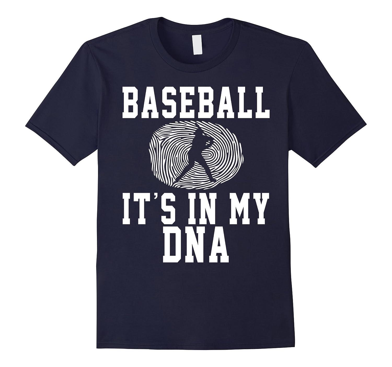 Baseball Its In my DNA Fingerprint Funny Shirt Gift-CD