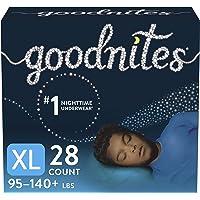 Goodnites Nighttime Bedwetting Underwear, Boys' XL (95-140 lb.), 28 Ct