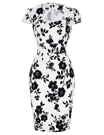 Grace Karin Mujeres Vintage Lápiz Vestido De Manga Corta Bodycon 1950 S 39 Colores Xs Xxxl 7597