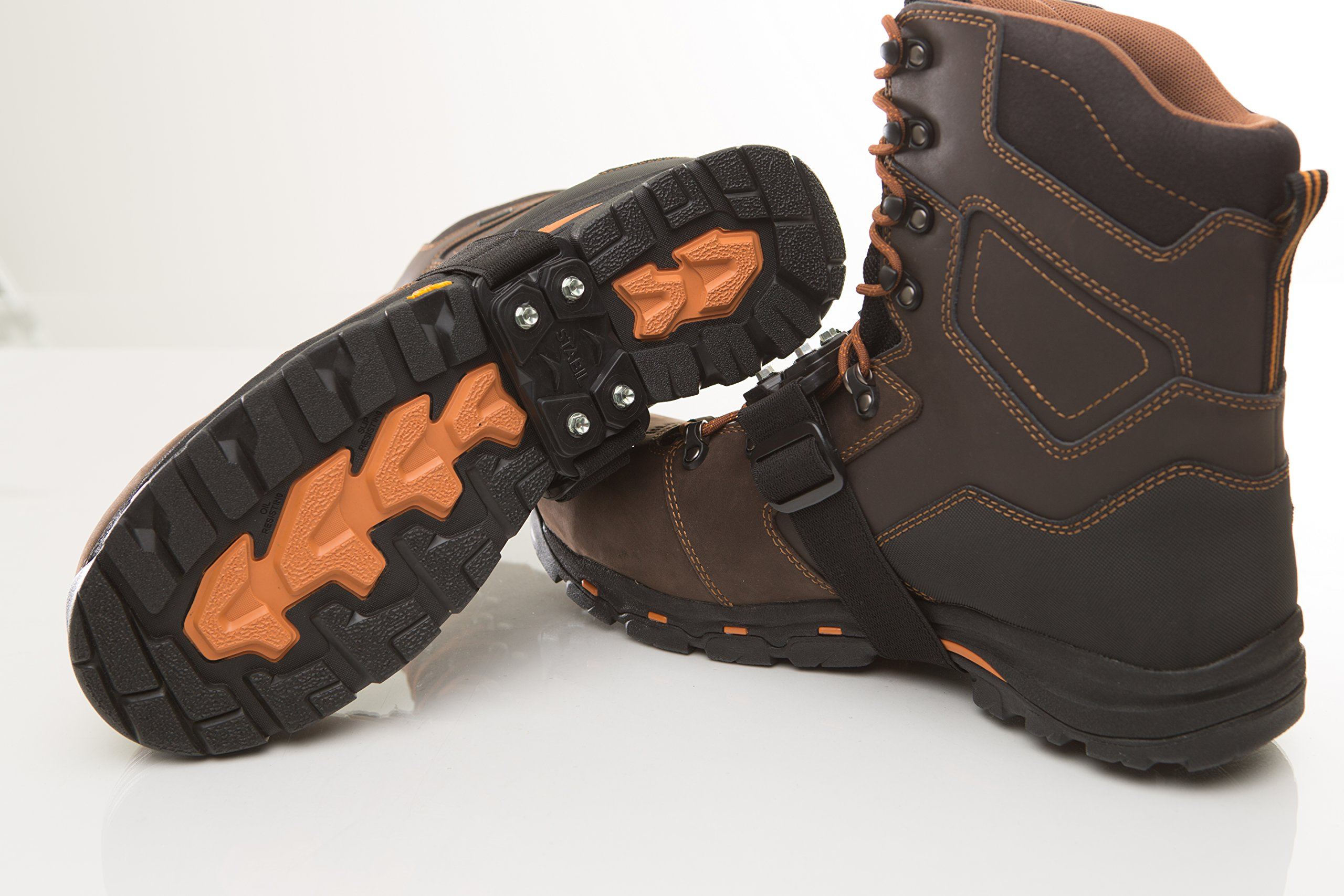 IMPACTO MidCleat Traction Ice Cleat and Tread for Snow & Ice, 1 Pair