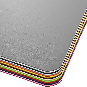 OfficeMarshal Alfombra de Color para Silla - Alfombrilla Protectora Suelo | Alfombra oficinas PP | Multiuso | Muchos Colores y tamaños (Gris, ...