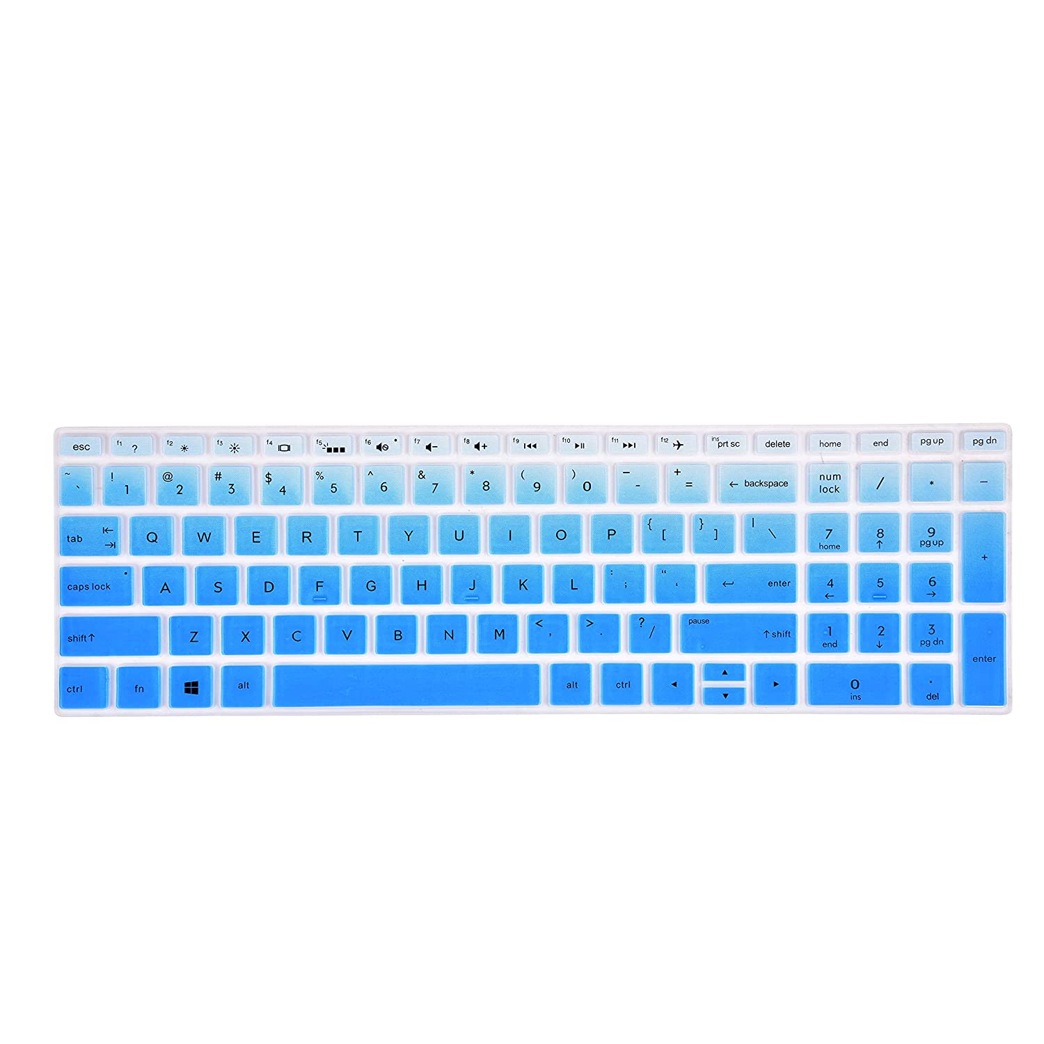 """Keyboard Cover Compatible 2018//2019 HP Envy x360 15.6//New HP Pavilion 15.6/""""Series//HP Pavilion x360 Series 15.6 //HP Envy 17 Seriers 17.3,15-CB 15-CC 15-CD 15-CH 15-BW 15-BS Laptop Black"""