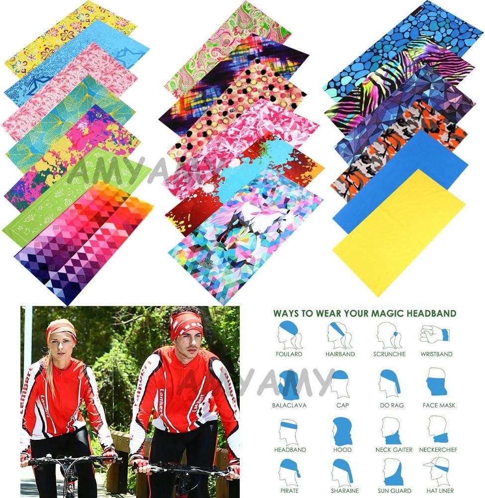 para mujer escalada bandana AMYAMY cuello talla M para la frente 1 unidad, sin costuras senderismo para atletismo para ciclismo 6 unidades