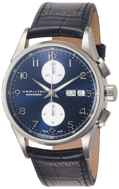 e6a8e3781 Amazon.com: Hamilton Jazzmaster Maestro Chronograph Automatic Blue Dial  Mens Watch H32576641: Watches