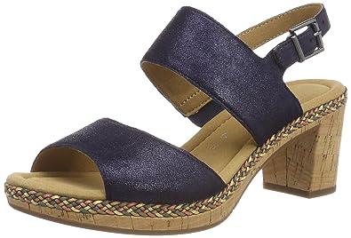 Shoes Women Silk Metallic Uppers Ankle Strap Sandals Gabor IDLjUFf