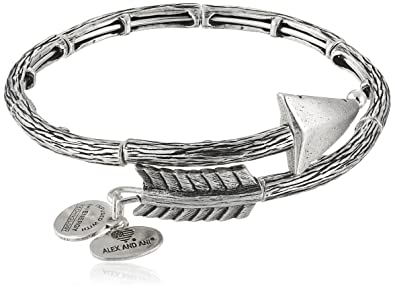 e662704cde5d0 Alex and Ani Love Struck Arrow Wrap Rafaelian Silver Bangle Bracelet