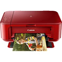 Canon MG3670 Pixma Wireless All-In-One Printer, Red,One Size