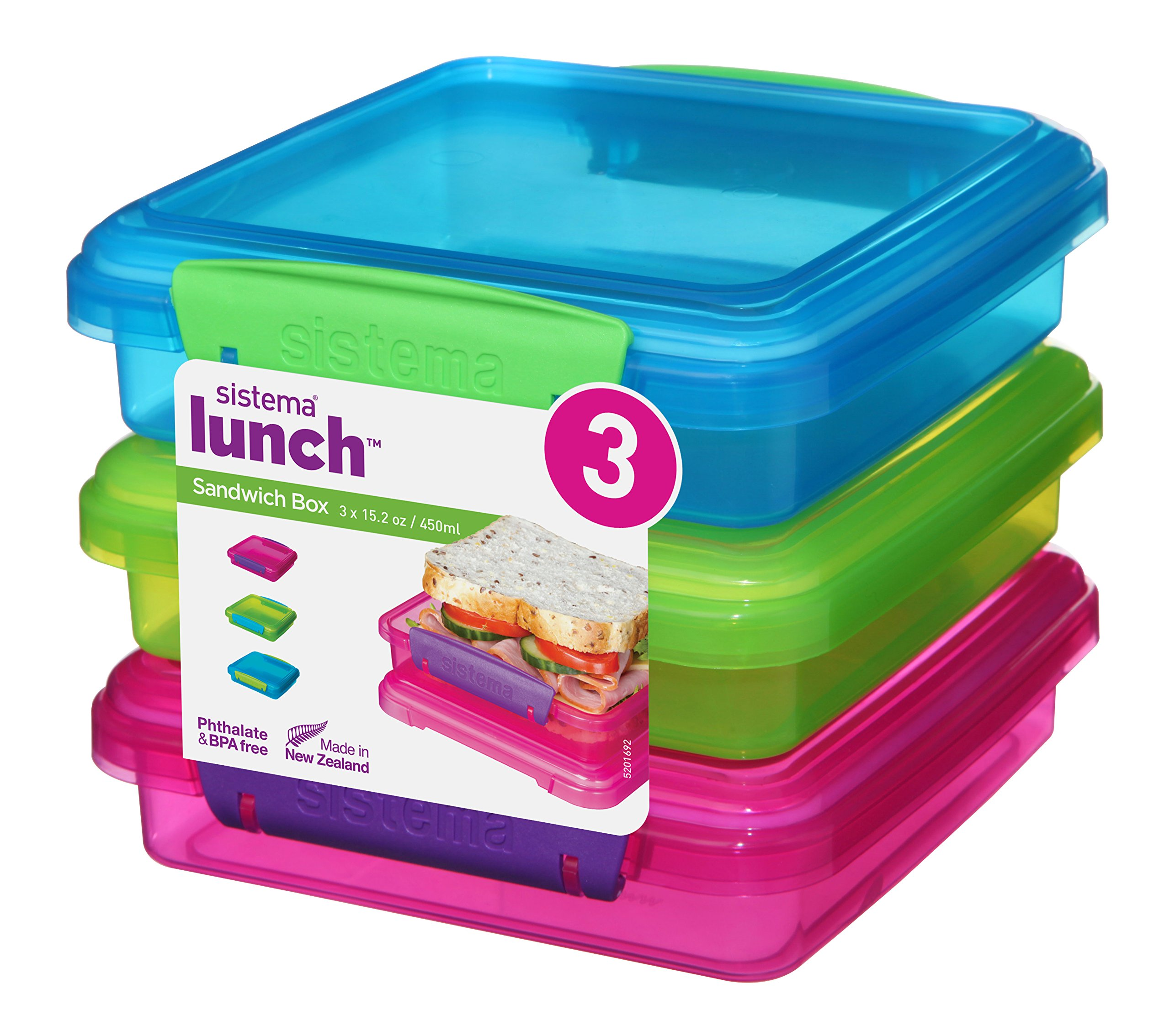 Merveilleux Details About Sistema Lunch Collection Sandwich Box Food Storage  Containers, 15.2 Ounce