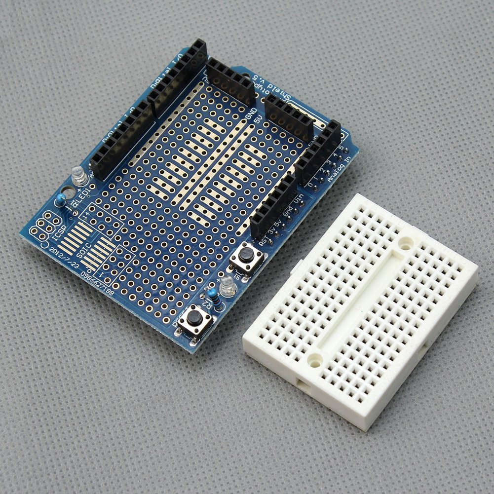 Wangdd22 Uno Proto Shield Prototype Expansion Board With And Now Also A Picture Of The First For This Circuit Syb 170 Mini Breadboard Based Arduino Protoshield Computers Accessories