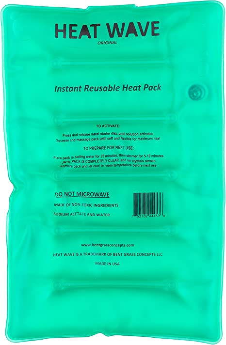 HEAT WAVE Instant Reusable Heat Pack - LARGE (8 x 12 inches ...
