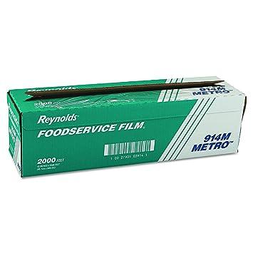 Reynolds Wrap 914M Metro Light-Duty PVC Film Roll w/Cutter Box, 18