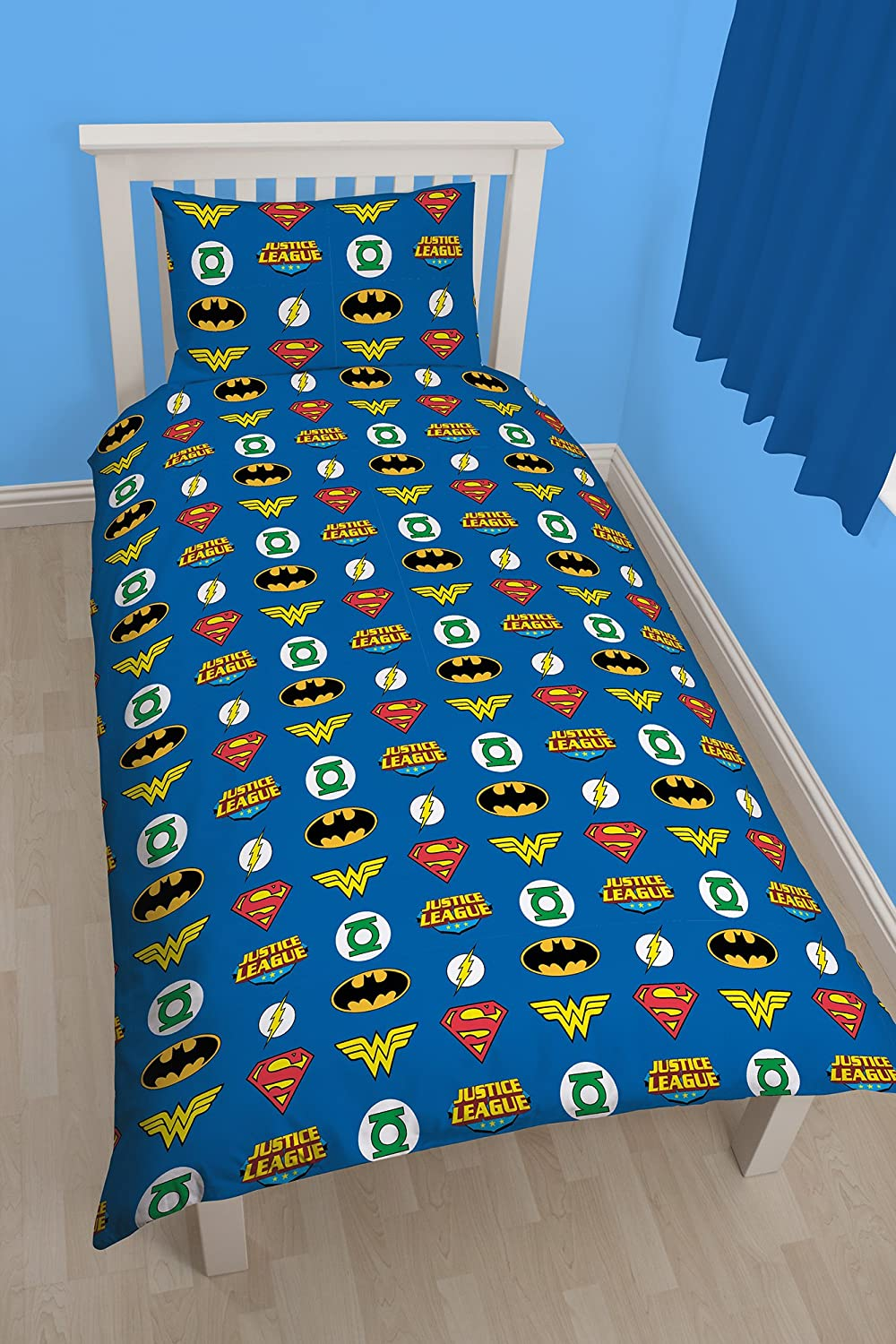 Character World Justice League Invincible Single Rotary Duvet Set