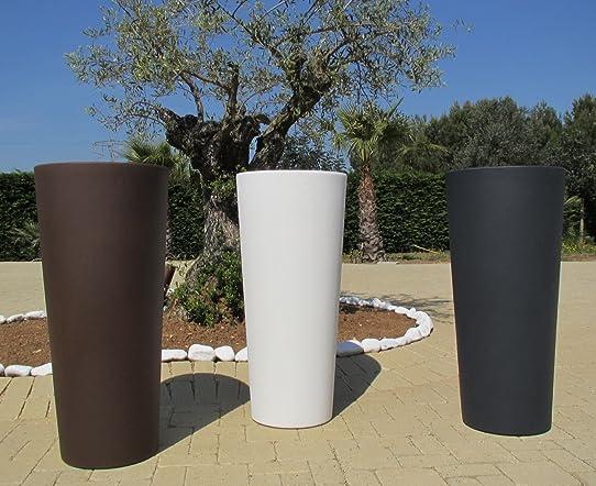 Genesis Vase blanc avec cache-pot en résine rond 85 (h) x 38 cm ...