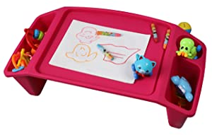 QI003253P Kids Lap Desk Tray, Portable Activity Table, Pink