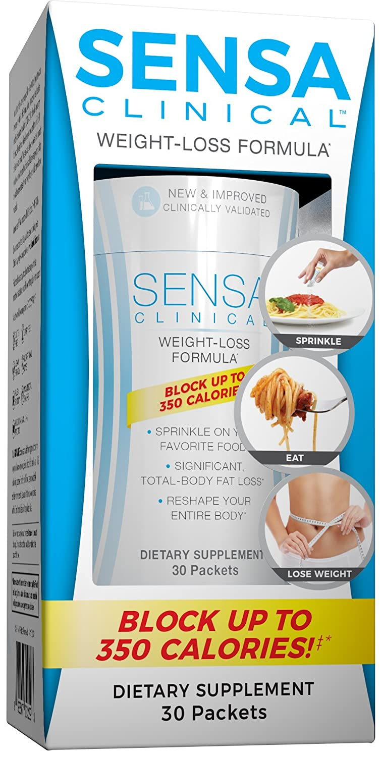 SENSA CLINICAL- Block up to 350 calories‡ with New and Improved Formula For Easy and Effective Weight Loss*, (30 packets)