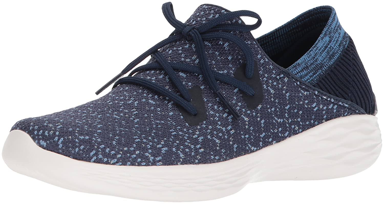 Skechers You Exhale Sneakers in Uuml;bergrouml;szlig;en Blau 14964/NVY Groszlig;e Damenschuhe  37 EU