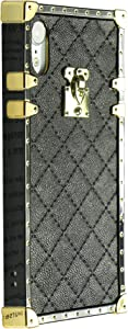 Westillux Iphonexr case Square Box Trunk Compatible with iPhone xr Cases Luxury Durable Bumper Covers IP iphone10r iphonexr i Phone 10xr rx 10 10rx Girly Glitter Coque 6.1inch (Black)