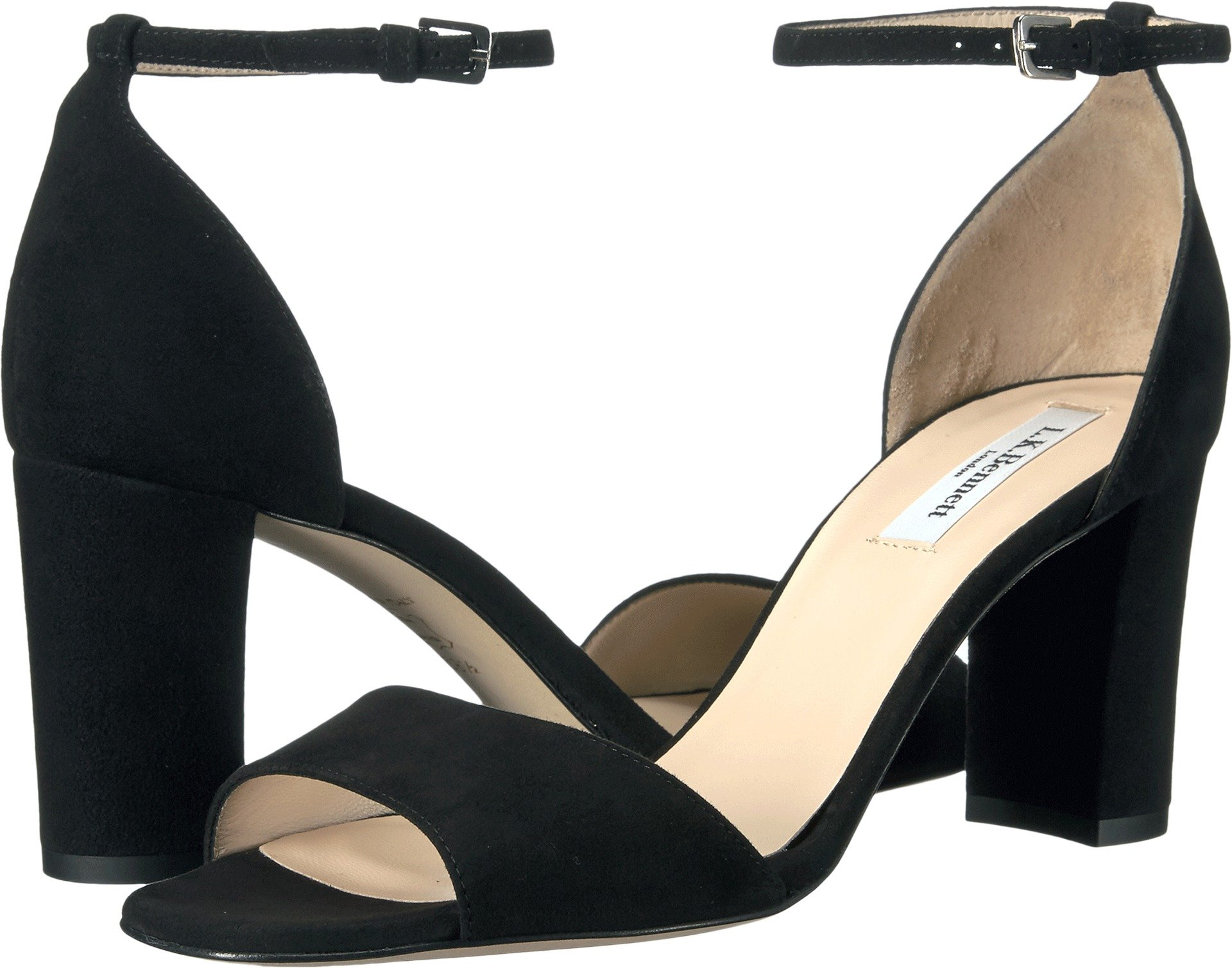 L.K. Bennett Women's Helena Dress Sandal, Black, 39.5 EU/9.5 M US