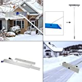 "Peach Tree 21' Snow Shovel Roof Rake with 6"" by 25"" Poly Blade"