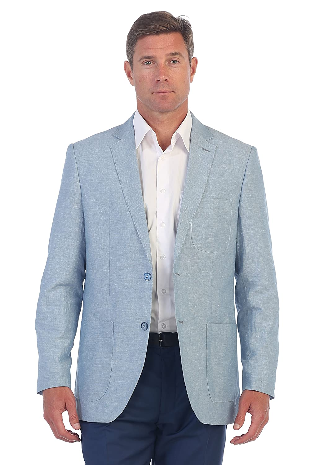 Gioberti Mens Linen Sports Coat Suit Jacket at Amazon Men\'s Clothing ...