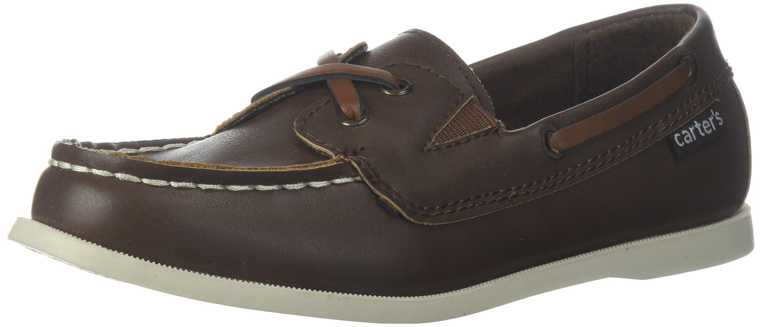 Carter's Boys' Bauk Boat Shoe, Brown, 10 M US Toddler