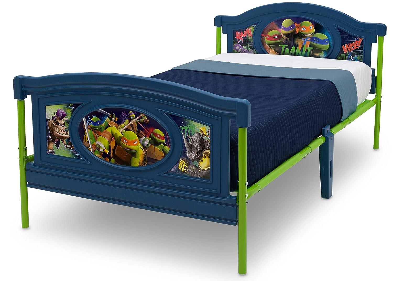 Ninja Turtle Bedroom Furniture Amazoncom Delta Children Twin Bed Nickelodeon Teenage Mutant