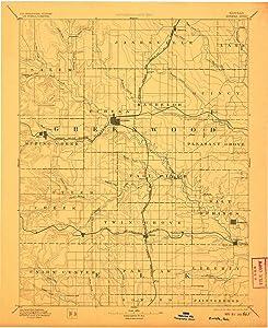 YellowMaps Eureka KS topo map, 1:125000 Scale, 30 X 30 Minute, Historical, 1894, Updated 1906, 19.99 x 16.3 in