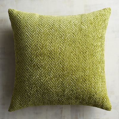 Herringbone Chenille Olive Pillow | Pier 1 Imports