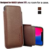"Apple iPhone XR/iPhone 11 Sleeve, Modos Logicos Synthetic Leather Protective Sleeve Pouch Case for iPhone XR/iPhone 11 6.1"","