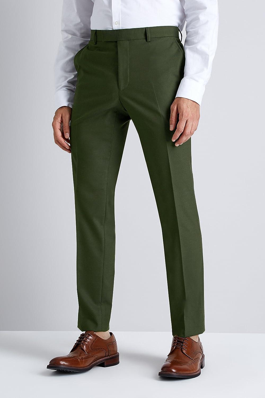 d9a9def9a901a6 Moss London Men's Skinny Fit Khaki 2 Piece Suit 44L: Amazon.co.uk: Clothing