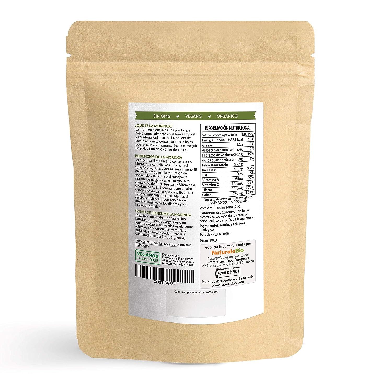 Moringa Oleifera Ecológica en Polvo [Calidad Premium] de ...