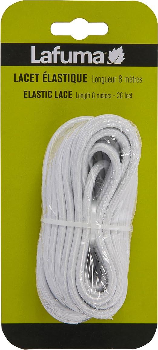 Lafuma Lacet élastique pour lit de soleil Siesta L et fauteuils relax,  Longueur: 8 m, Couleur: Blanc, LFM2405-0020