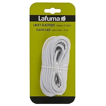 acheter en ligne 4d369 45f18 Lafuma Lacet élastique pour lit de soleil Siesta L et fauteuils relax,  Longueur: 8 m, Couleur: Blanc, LFM2405-0020