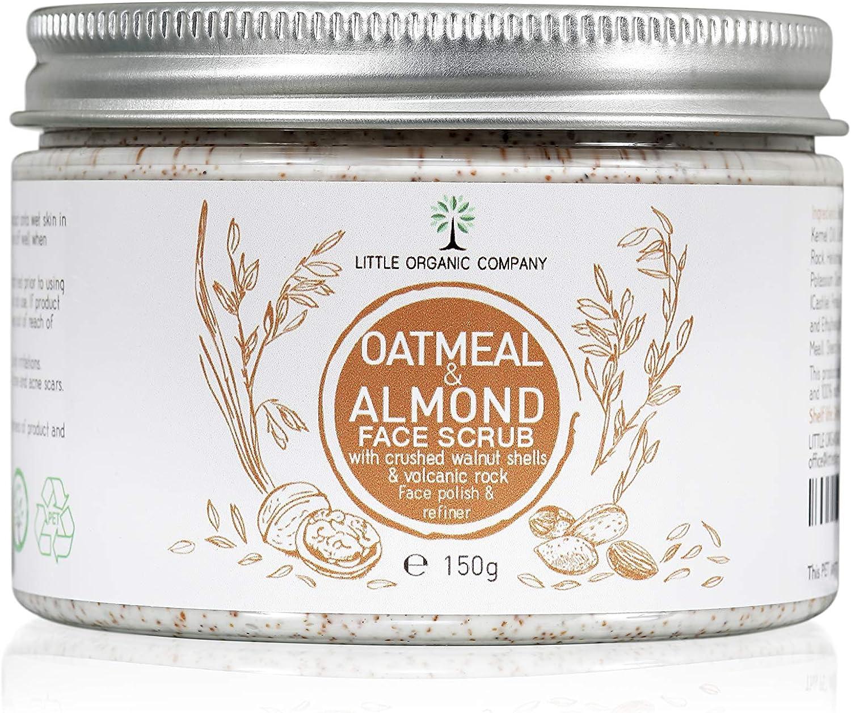 Avena y Almendra Exfoliante Facial (con picado nogal conchas – orgánico, 100% natural, vegan, respetuoso con el medio ambiente: Amazon.es: Belleza