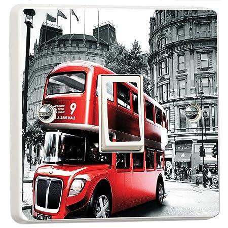 London Eye Views 3D Light Switch Sticker Cover Vinyl Skin Wall Decal Decor
