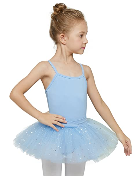 05a624eb57d8 Amazon.com  MdnMd Girls  Glitter Camisole Tutu Leotard  Clothing