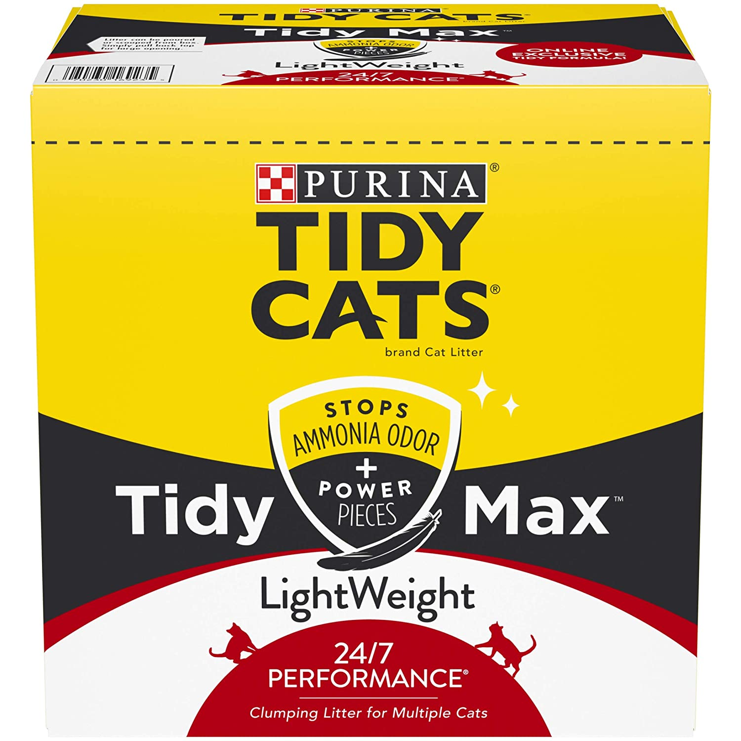 17 lb. Box Purina Tidy Cats Lightweight Clumping Cat Litter, Tidy Max 24 7 Performance Multi Cat Litter 17 lb. Box