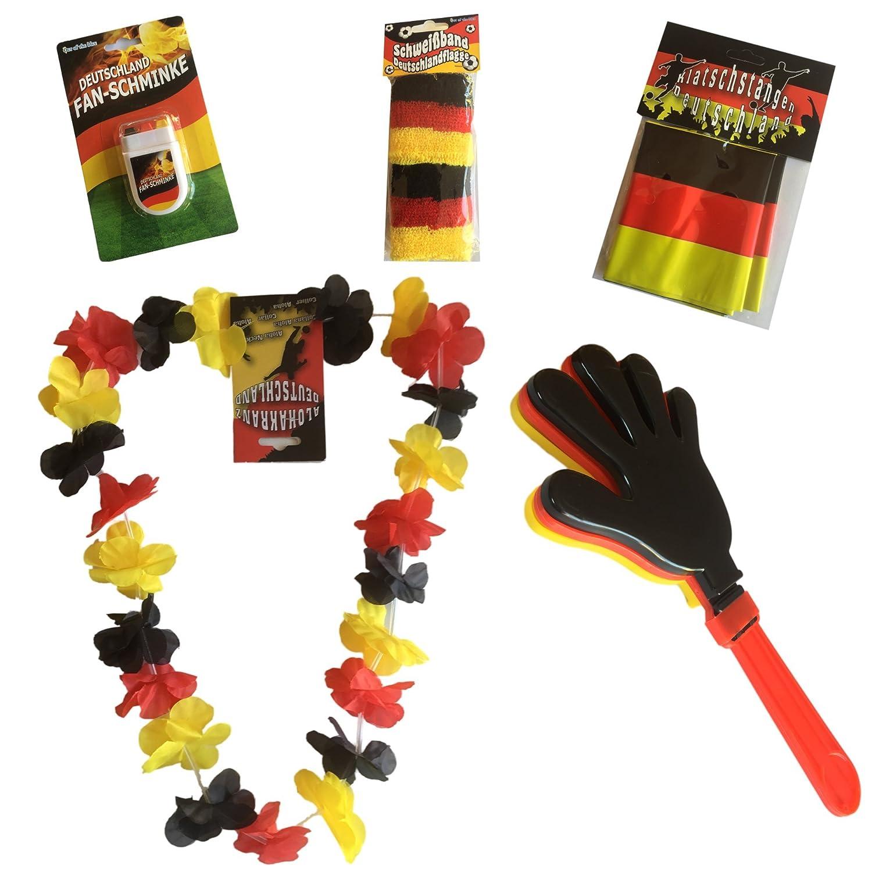 Susis Fashion Shop/® Allemagne Fan paquets Noir//Rouge//Dor/é WM Em