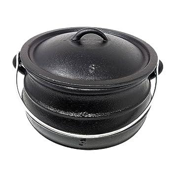 Big-BBQ potjie | südafr Hierro Fundido Olla de de Americanos | alternativa al de Dutch Oven | diferentes tamaños a elegir: Amazon.es: Jardín