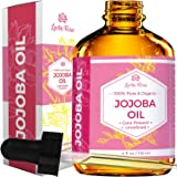 Jojoba Oil, Organic, 100% Pure Cold Pressed Unrefined, Made in the USA Revitalizes Hair and Gives Skin a Radiant and Youthful Look, Great for Lips, Cuticles, Stretch Marks, Beard, Leaving You Vibrant. Similar to Argan Oil, but Without the Smell, in a 4 oz Dark Amber Bottle, and Glass Eye Dropper for Easy Application
