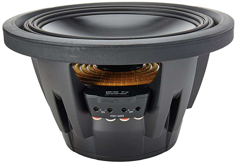 Alpine SWR 12D4 Type R 12 Inch 1000W Subwoofer With Dual 4 Ohm Voice Coils