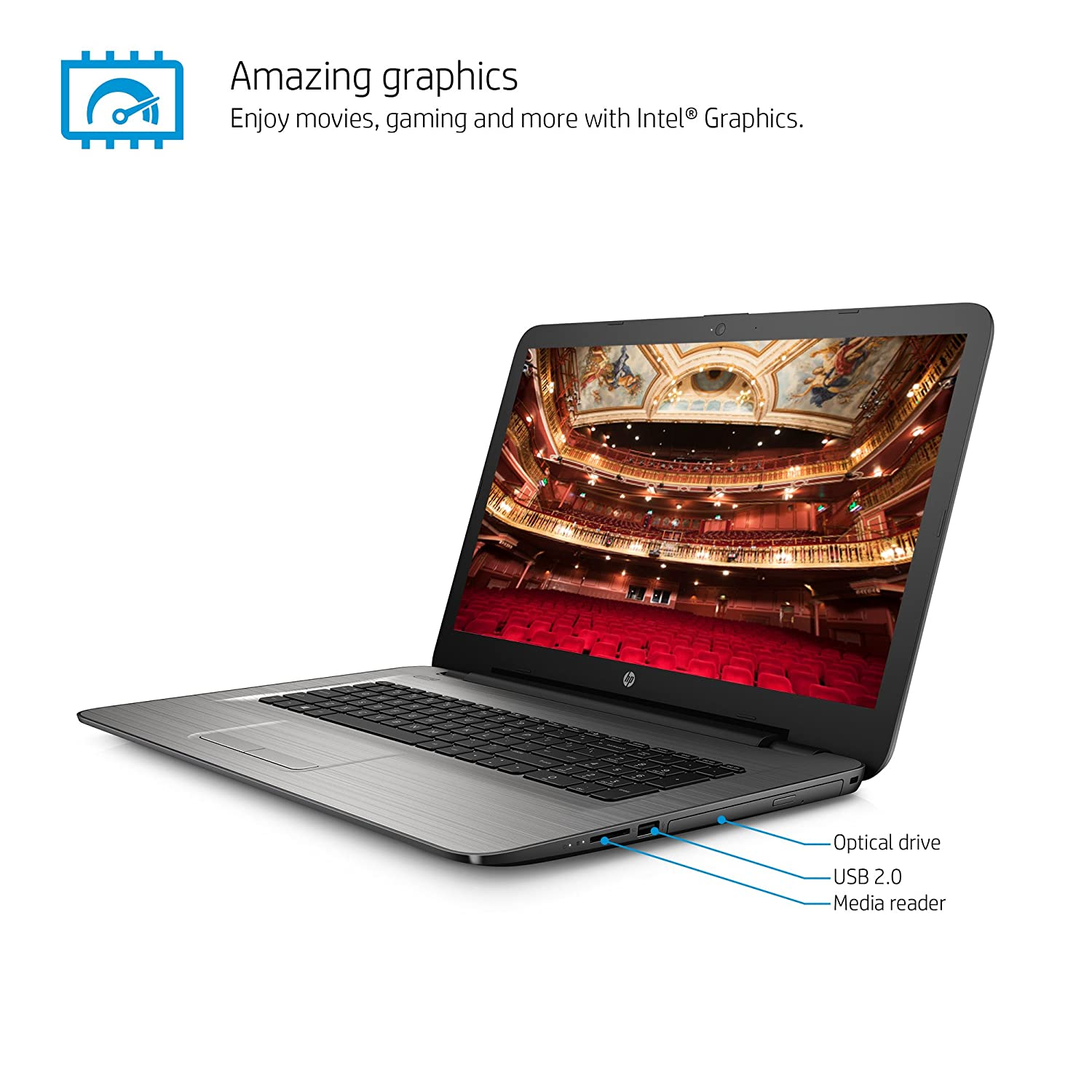 Amazon.com: HP 17-x010nr 17.3-Inch Notebook (Pentium, 4 GB RAM, 1 TB HDD): Computers & Accessories