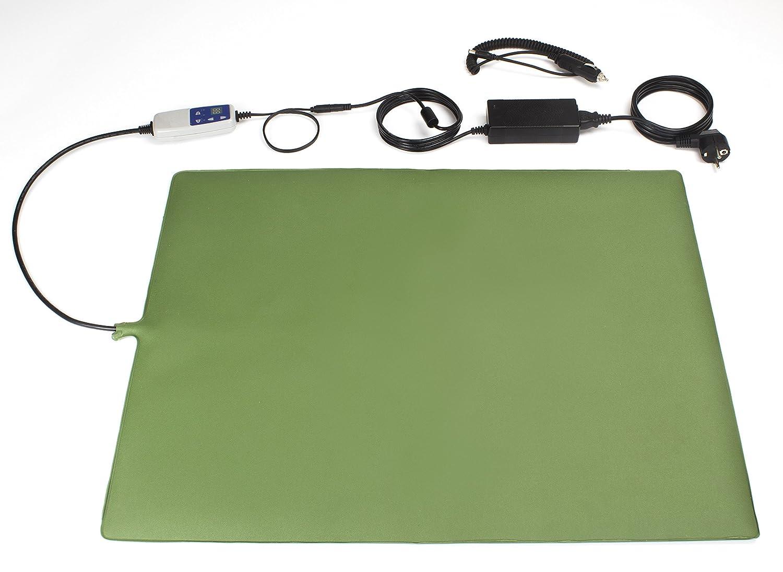 9-Stufen PVC-Heizmatte 65 x 50 cm, grün, 50 W, Wärmematte für Tiere