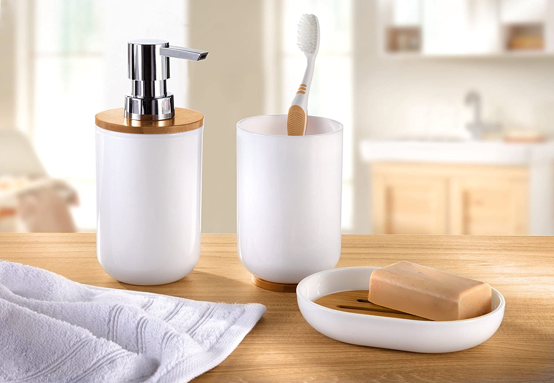 Kleine Wolke Toilet brush holder Timber, White: Kleine Wolke: Amazon ...