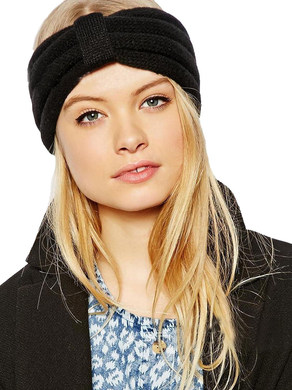 Jelinda Mädchen Damen Frauen Strick Stirnband Crochet Ohr- Wärmer ...