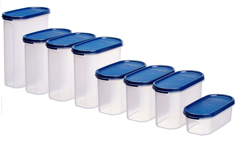 Signoraware Organise Your Kitchen Set, 8-Pieces, Mod Blue