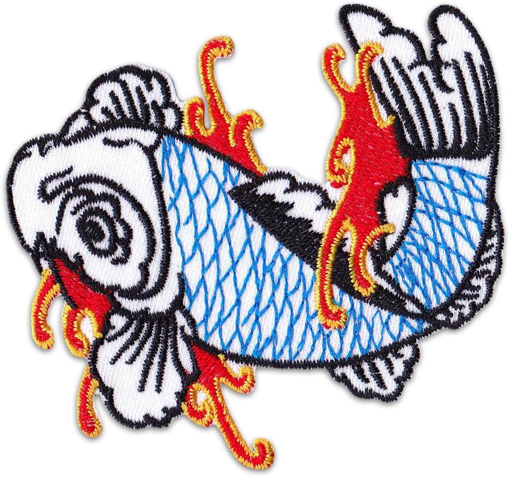 Nish igikoi parche para planchar Patch carpas Tattoo Japón ...