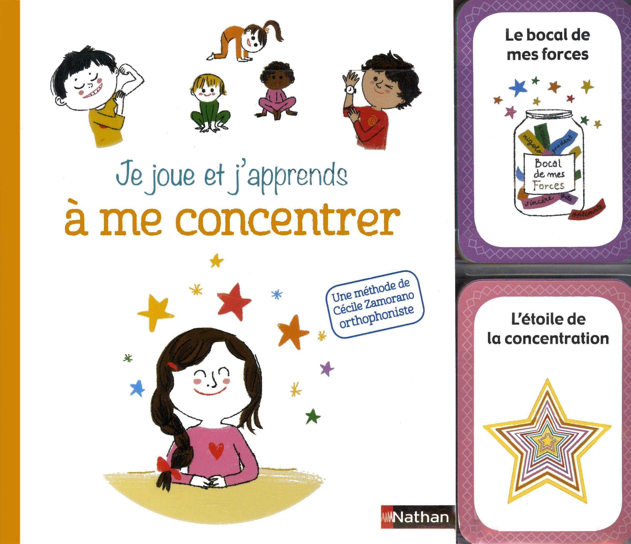 Coffret cartes + livret : Je joue et j'apprends à me concentrer (6 ans et +)